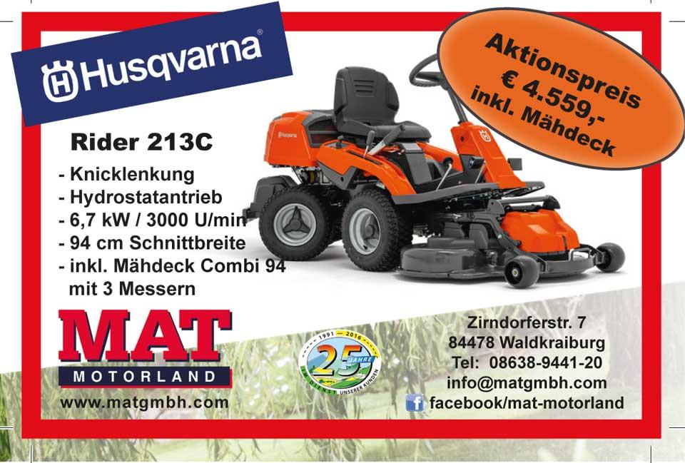 Aktion Husqvarna Rider 213C