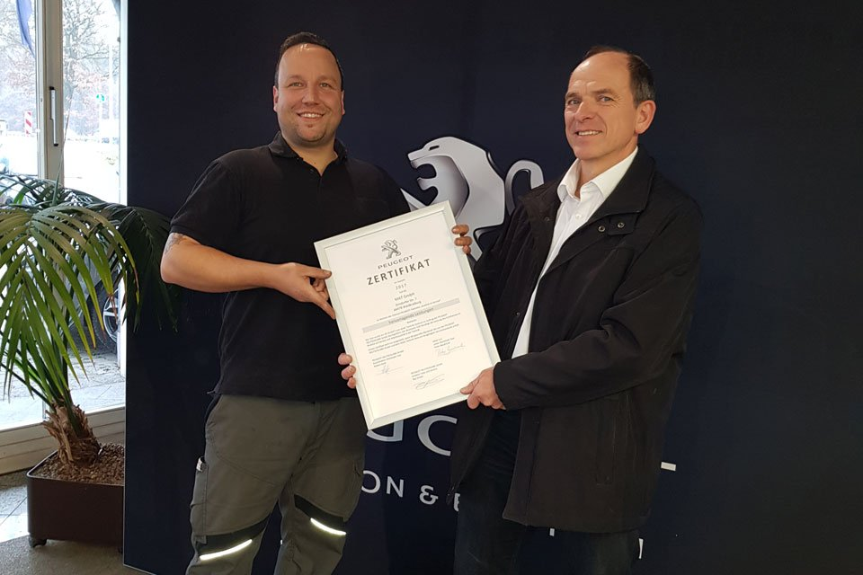 Auszeichnung für MAT GmbH, Note 1