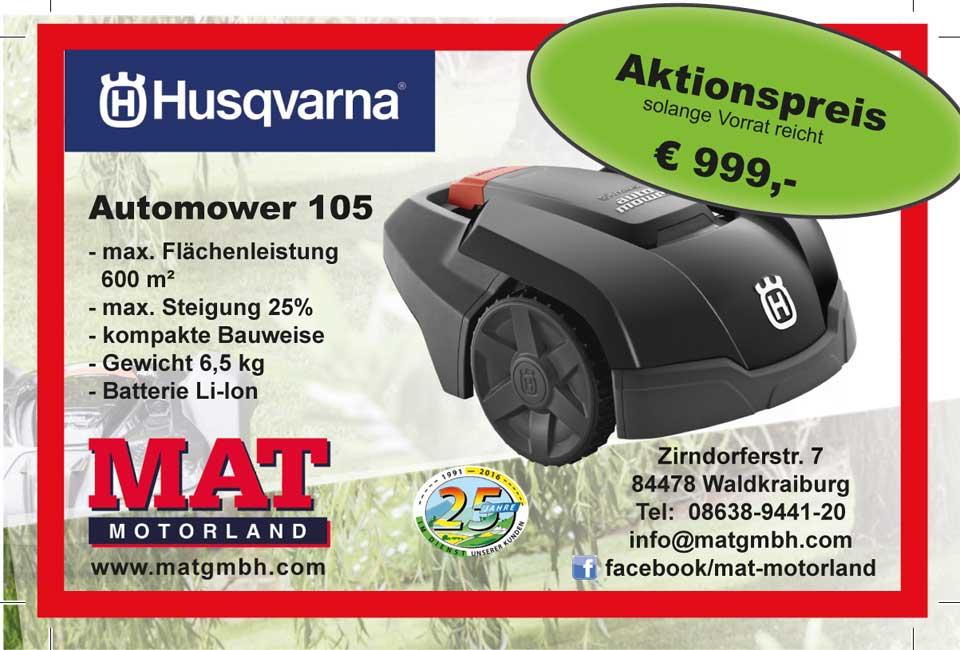 Aktion Husqvarna Automower 105
