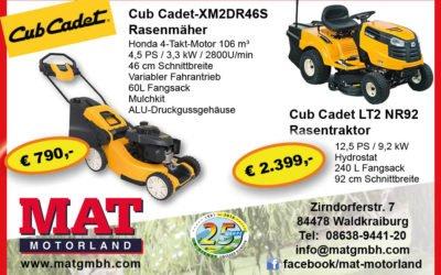 Cub Cadet  – aktuelle Angebote